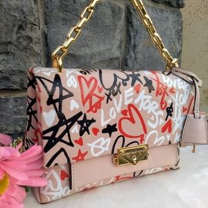 Rare💗 Michael Kors Cece Graffiti Chain Bag